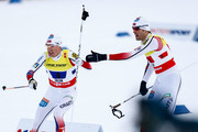(FRANCE OUT) Magnus Hovdal Moan, Havard Klemetsen of Norway takes 3rd place during the FIS Nordic World Ski Championships Men's Nordic Combined Team Sprint on February 28, 2015 in Falun, Sweden.