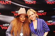 "Erykah Badu (L) and WFAA-TV's ""Good Morning Texas"" host Jane McGarry attend the Dallas special screening of Paramount Pictures' film 'What Men Want' at  AMC North Park 15 on February 05, 2019 in Dallas, Texas."