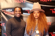 Producer James Lopez (L) and Erykah Badu attend the Dallas special screening of Paramount Pictures' film 'What Men Want' at  AMC North Park 15 on February 05, 2019 in Dallas, Texas.