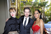 (L-R) Susie Hariet, Dan Stevens and Tracee Ellis Ross attend the Mercedes-Benz USA Awards Viewing Party at Four Seasons Los Angeles at Beverly Hills on February 24, 2019 in Los Angeles, California.