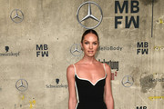 Candice Swanepoel attends the Mercedes-Benz presents Fashion Talents from South Africa show during Berlin Fashion Week Autumn/Winter 2020 at Kraftwerk Mitte on January 13, 2020 in Berlin, Germany.