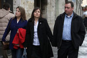 Edda Mellas (C), the mother of Amanda Knox, arrives at the Perugia courthouse with her sister and her second husband Chris Mellas for the lawyer defense  closing speech of the Meredith Kercher murder trial   on November 28, 2009 in Perugia, Italy. Amanda Knox and her former Italian boyfriend Raffaele Sollecito have been charged with the murder of British student Meredith Kercher on November 1, 2007 in Italy. Sentencing is scheduled for next weekend.