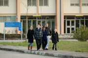 The parents, Curt Knox and Edda Mellas walk with the sister and stepsisters of Amanda Knox as they leave Perugia Prison after visiting her on December 5, 2009 in Perugia, Italy. Amanda Knox and her former Italian boyfriend Raffaele Sollecito were found guilty of the murder of British student Meredith Kercher in Perugia on November 1, 2007 and given sentences of 26 years and 25 years respectively.