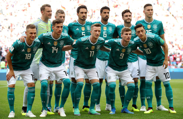 Korea Republic Vs. Germany: Group F - 2018 FIFA World Cup Russia [team photo,team,team sport,player,soccer player,football player,social group,sport venue,sports,ball game,soccer,player,germany,russia,korea republic,kazan arena,group,group f - 2018 fifa world cup,match,2018 fifa world cup]
