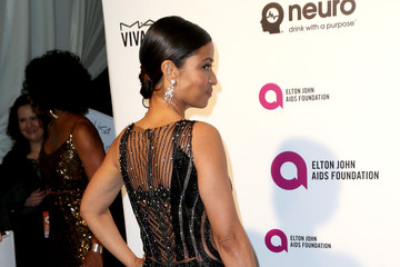 Meta Golding Celebrities Attend an Oscar Viewing Party