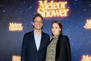 "(L-R) Seth Meyers and Alexi Ashe attend the ""Meteor Shower"" opening night on Broadway on November 29, 2017 in New York City."