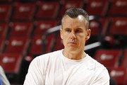 Head coach Billy Donovan of the Florida Gators watches the players during the morning shoot-around prior to the game against the Fresno State Bulldogs during the MetroPCS Orange Bowl Basketball Classic on December 21, 2013 at the BB&T Center in Sunrise, Florida. Florida defeated Fresno State 66-49.