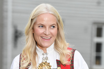 Mette-Marit Norwegian Royals Attend A Reception In the Old Town of Fredrikstad