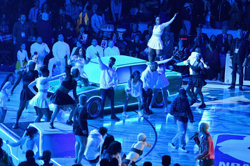 Mette Towley Celebrities At The 67th NBA All-Star Game: Team LeBron Vs. Team Stephen