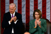 U.S. Vice President Joe Biden and Speaker of the House Nancy Pelosi (D-CA) stand and applaud for Mexican President Felipe Calderon as he addresses a joint session of the U.S. Congress on the floor of the House House of Representatives at the U.S. Captiol May 20, 2010 in Washington, DC. Calderon met with President Barack Obama at the White House Wednesday where the two leaders discussed the ongoing drug war along the U.S.-Mexico border and the recent anti-illegal immigration law passed in Arizona.