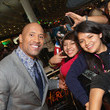 Dwayne Johnson Takes Pics with His Fans