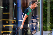 Andres Guardado of Mexico arrives at Renaissance Hotel on June 30, 2018 in Samara, Russia.