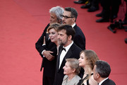 "Paolo Del Brocco, Guilia Lazzarini, John Turturro, Margherita Bu, Nanni Moretti, Beatrice Mancini and Paolo Del Brocco  attend the Premiere of ""Mia Madre"" (""My Mother"") during the 68th annual Cannes Film Festival on May 16, 2015 in Cannes, France."