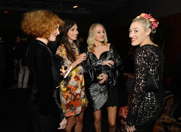 "Private Cocktail Party For The Restored ""Fellini Satyricon"" Hosted By Dolce & Gabbana At The 50th New York Film Festival [fellini satyricon,fashion,event,fashion design,dress,performance,photography,night,style,ceremony,party,mia morett,elizabeth gilpin,rebecca dayan,coverage,l-r,dolce gabbana,cocktail party,new york film festival,cocktail party]"