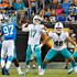 Ryan Tannehill Photos - Ryan Tannehill #17 of the Miami Dolphins throws a pass against the Carolina Panthers in the second quarter during the game at Bank of America Stadium on August 17, 2018 in Charlotte, North Carolina. - Miami Dolphins v Carolina Panthers