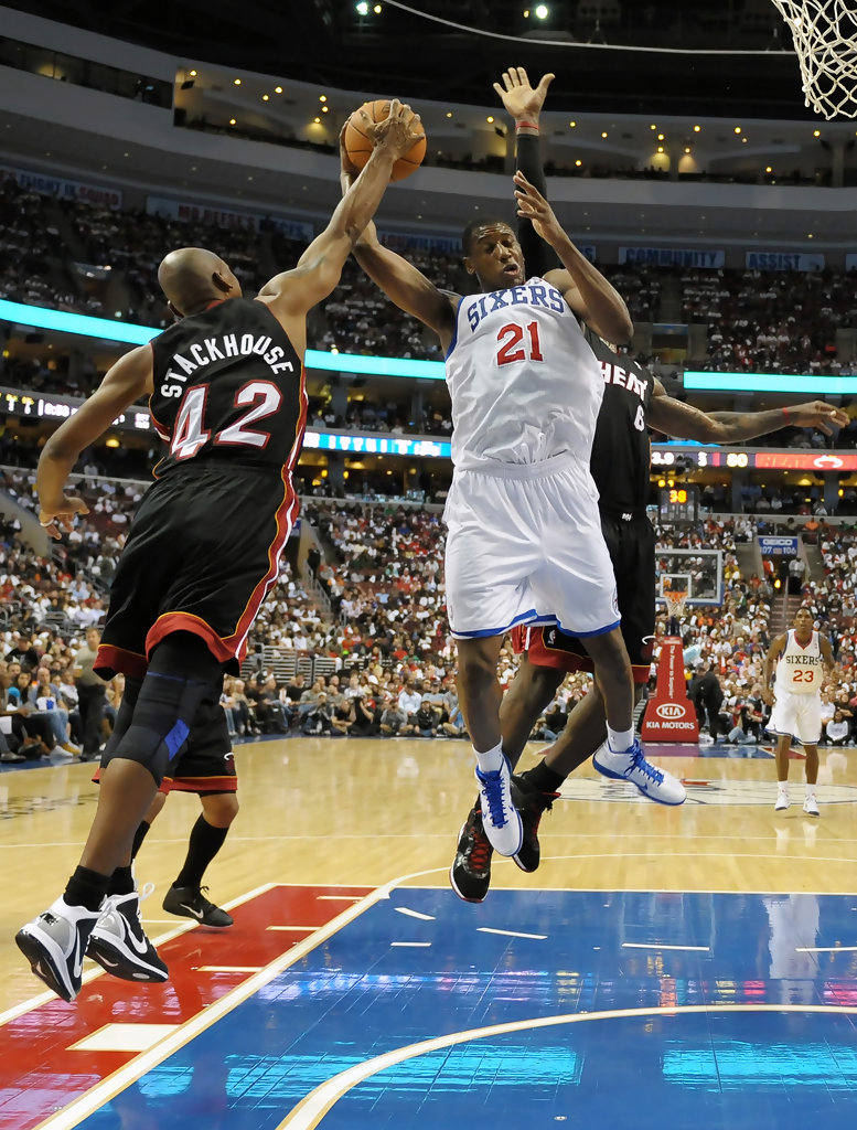 Jerry Stackhouse in Miami Heat v Philadelphia 76ers 1 of 1 Zimbio