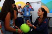 Ana Ivanovic of Serbia signs autographs  during Day 3 of the Miami Open presented by Itau at Crandon Park Tennis Center on March 23, 2016 in Key Biscayne, Florida.