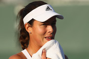 Ana Ivanovic of Serbia shows her dejection against Timea Bacsinszky of Switzerland in their third round match during the Miami Open Presented by Itau at Crandon Park Tennis Center on March 26, 2016 in Key Biscayne, Florida.
