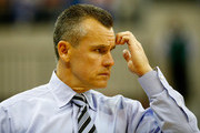 Head coach Billy Donovan of the Florida Gators watches the action during the game against the Miami (Fl) Hurricanes at Stephen C. O'Connell Center on November 17, 2014 in Gainesville, Florida.