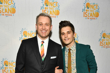 Michael Arden Andy Mientus 'Once on This Island' Broadway Opening Night - Arrivals & Curtain Call