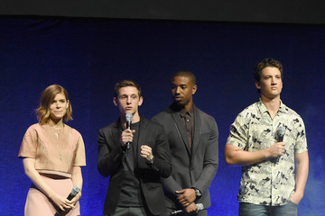 Michael B. Jordan Miles Teller CinemaCon 2015 - 20th Century Fox Invites You To A Special Presentation Highlighting Its Future Release Schedule