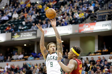 Michael Beasley Milwaukee Bucks v Indiana Pacers