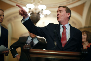 Michael Bennet Senate Lawmakers Address The Media After Their Weekly Policy Luncheons