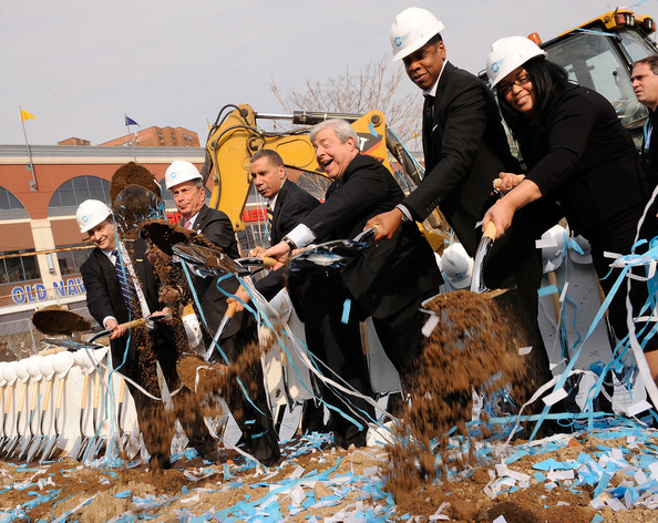 Groundbreaking Ceremony Of The Barclays Center At Atlantic Yards