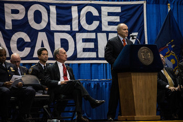 Michael Bloomberg Ray Kelly NYPD Cadets Attend Their Graduation