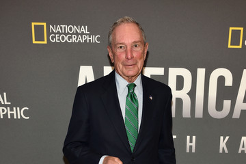 Michael Bloomberg National Geographic's 'America Inside Out With Katie Couric' Premiere Screening In NYC