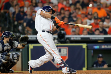 Michael Brantley Divisional Series - Tampa Bay Rays vs Houston Astros - Game Two