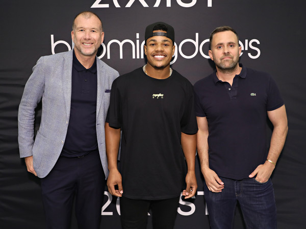 Bloomingdale's And 2(X)Ist Welcome Sterling Shepard [photo,event,team,brand,welcome sterling shepard,vice president of fashion,wide receiver,fashion market director,michael carl,bloomingdales,2 x ist,new york giants,vanity fair]