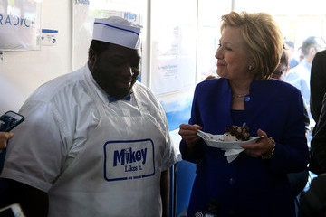 Michael Coleman Democratic Presidential Candidate Hillary Clinton Campaigns in New York