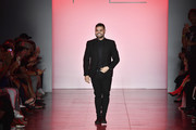 Michael Costello walks the runway at the Michael Costello show during New York Fashion Week: The Shows at Gallery II at Spring Studios on September 7, 2018 in New York City.