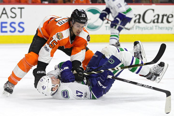 Michael Del Zotto Vancouver Canucks v Philadelphia Flyers