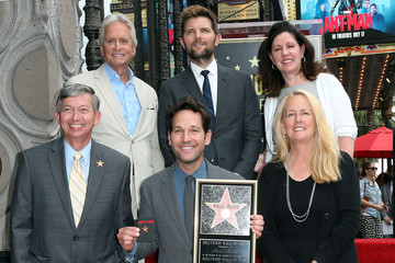 Michael Douglas Paul Rudd Honored With Star on the Hollywood Walk of Fame