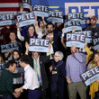 Michael J. Fox Presidential Candidate Pete Buttigieg Campaigns In New Hampshire Ahead Of Primary