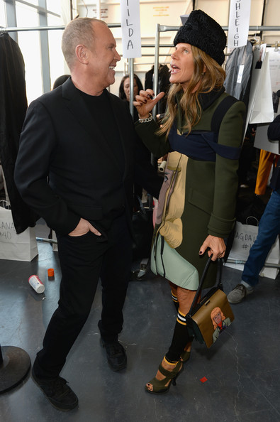 Backstage at the Michael Kors Show [clothing,costume,fashion,footwear,cosplay,fashion accessory,michael kors,anna dello russo,new york city,l,spring studios,michael kors show,fashion show,mercedes-benz fashion week]