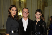 Catrinel Marlon, Cesare Cunaccia and Elena Radonicich attend Michael Kors to celebrate Milano Cocktail on December 4, 2013 in Milan, Italy.