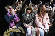 Hamish Bowles (L) and Anna Wintour attend the Michael Kors Collection Fall 2019 Runway Show at Cipriani Wall Street on February 13, 2019 in New York City.