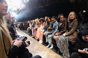 (L-R) Alexandra Idol, Annalia Idol, Michael Douglas, Carys Zeta Douglas, Catherine Zeta-Jones, Kate Hudson, Kerry Washington, Doutzen Kroes, Priyanka Chopra,  Billy Porter, Regina King, and Olivia Wilde attend the Michael Kors Collection Fall 2019 Runway Show at Cipriani Wall Street on February 13, 2019 in New York City.