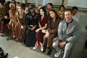 (L-R)  Justine Skye, Suki Waterhouse, Law Roach, Lucy Hale, Sara Sampaio, and Brad Goreski attend the Michael Kors Collection Spring 2020 Runway Show on September 11, 2019 in Brooklyn City.