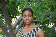 Condola Rashad attends as Michael Kors and the New York Restoration Project Celebrate The Opening Of The Essex Street Community Garden on June 21, 2018 in Brooklyn, New York.