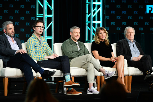 2020 Winter TCA Tour - Day 3 [event,television program,conversation,performance,convention,heater,performing arts,simon blackwell,chris addison,breeders,michael mckean,martin freeman,daisy haggard,l-r,pasadena,winter tca,segment,simon blackwell,martin freeman,daisy haggard,breeders,michael mckean,chris addison,photography,stock photography,television]
