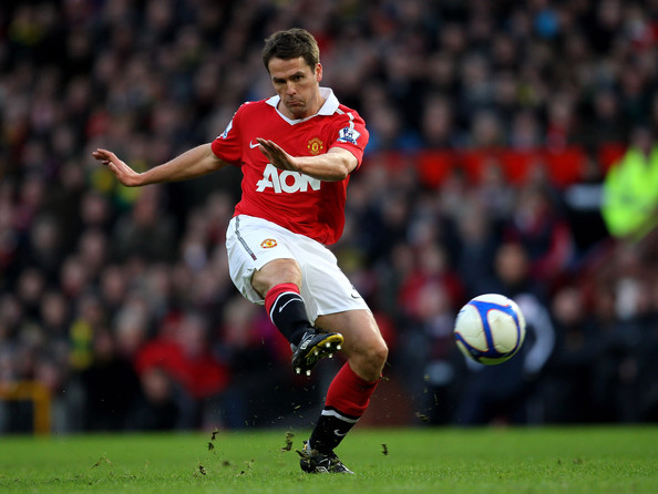 Michael Owen Michael Owen of Manchester United in action during the FA Cup sponsored by E.ON 3rd round match between Manchester United and Liverpool at Old Trafford on January 9, 2011 in Manchester, England.