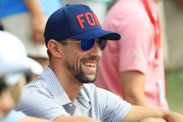 PGA Championship - Final Round [eyewear,sunglasses,arm,facial hair,games,baseball cap,cap,fun,headgear,baseball,michael phelps,missouri,st louis,bellerive country club,round,pga championship,round,olympic]