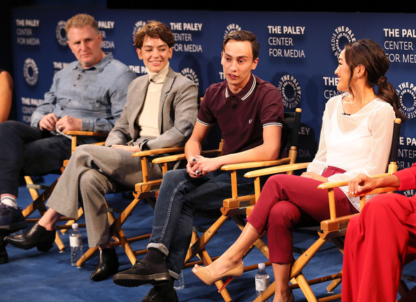 The Paley Center For Media's 2018 PaleyFest Fall TV Previews - Netflix - Inside [paleyfest fall tv previews,blue,event,news conference,human,sitting,conversation,performance,furniture,convention,leisure,amy okuda,keir gilchrist,michael rapaport,stage,l-r,atypical,netflix,paley center for media,inside]