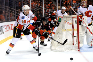 Michael Stone Calgary Flames v Anaheim Ducks - Game Two
