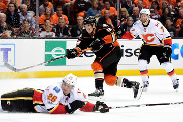 Michael Stone Calgary Flames v Anaheim Ducks - Game One