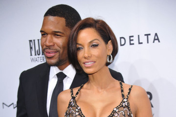 Michael Strahan Nicole Murphy FIJI Water At amfAR New York Gala